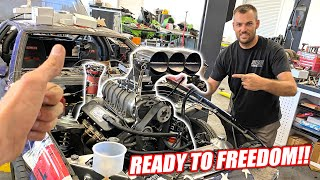 TOAST'S 1,700hp Supercharged Big Block is ALMOST Ready to Fire! + Leroy Preps For His New Turbskies!