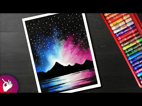 Beginners Painting How To Paint A Night Sky With Oil Pastel