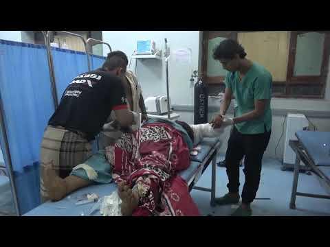 استشهاد وجرح ث استشهاد وجرح ثلاث نساء وطفل في قصف مدفعي حوثي على حيس