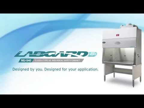 The LabGard ES (Energy Saver) NU-540 is designed as a Class II, Type A2 Biosafety Cabinet to provide personnel, product, and environmental protection through a dynamic air barrier of 105 fpm (0.53 m/s) at the front of the cabinet and true laminar airflow of 60 fpm (0.30 m/s) within the work zone.