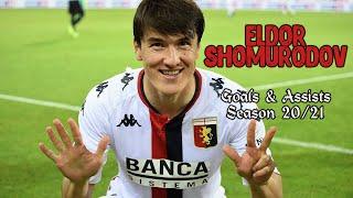 Eldor Shomurodov   Goals & Assists   Season 20/21   Welcome to AS Roma
