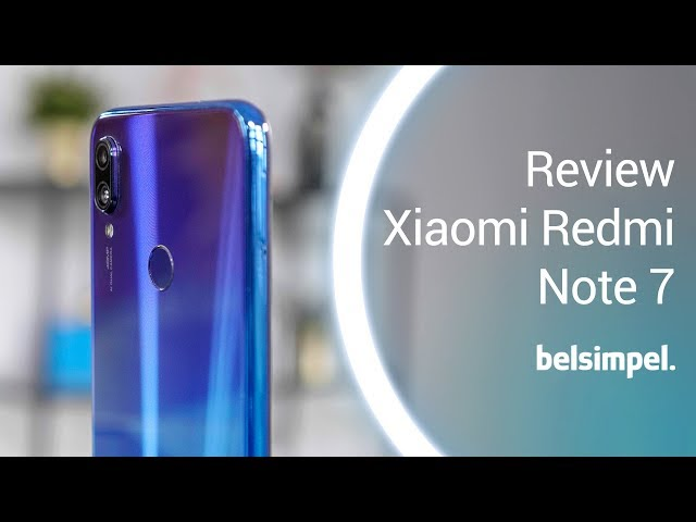 Belsimpel-productvideo voor de Xiaomi Redmi Note 7 32GB Black