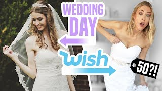 I TRIED WEDDING DRESSES FROM WISH vs My ACTUAL Wedding Dress