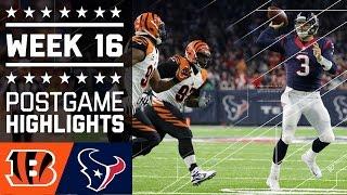 Bengals vs. Texans | NFL Week 16 Game Highlights