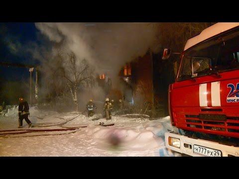В пригороде Архангельска горел двхэтажный жилой дом