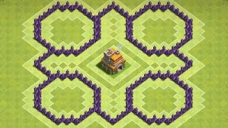 """CoC """"NEW"""" Town hall 7 (TH7) Farming Base With 3 Air Defence"""