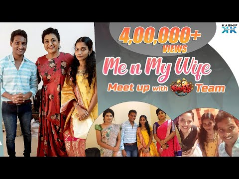 Lady getup fame Vinod and his wife with Jabardasth team