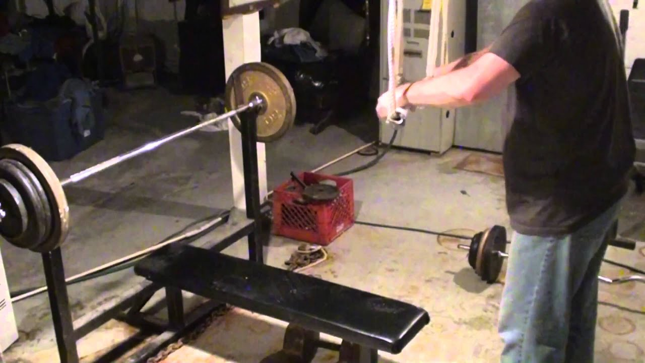 Homemade Weightlifting Equipment Cheap Home Gym Fitness Training Youtube
