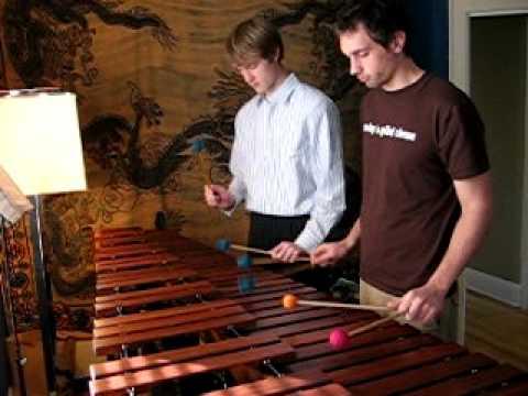 The Office theme song on marimba