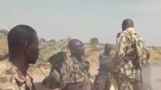 Gallant Nigerian soldiers worshipping their God right in the war front