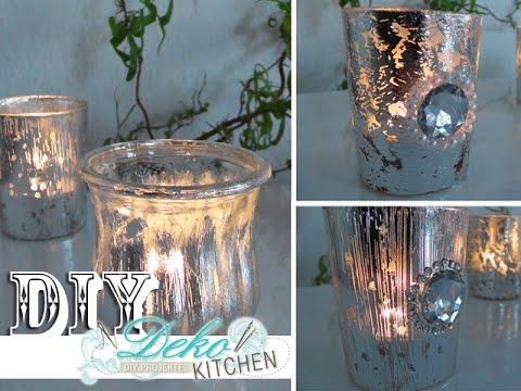 diy windlichter im deko bauernsilber look einfach selbst machen deko kitchen youtube. Black Bedroom Furniture Sets. Home Design Ideas