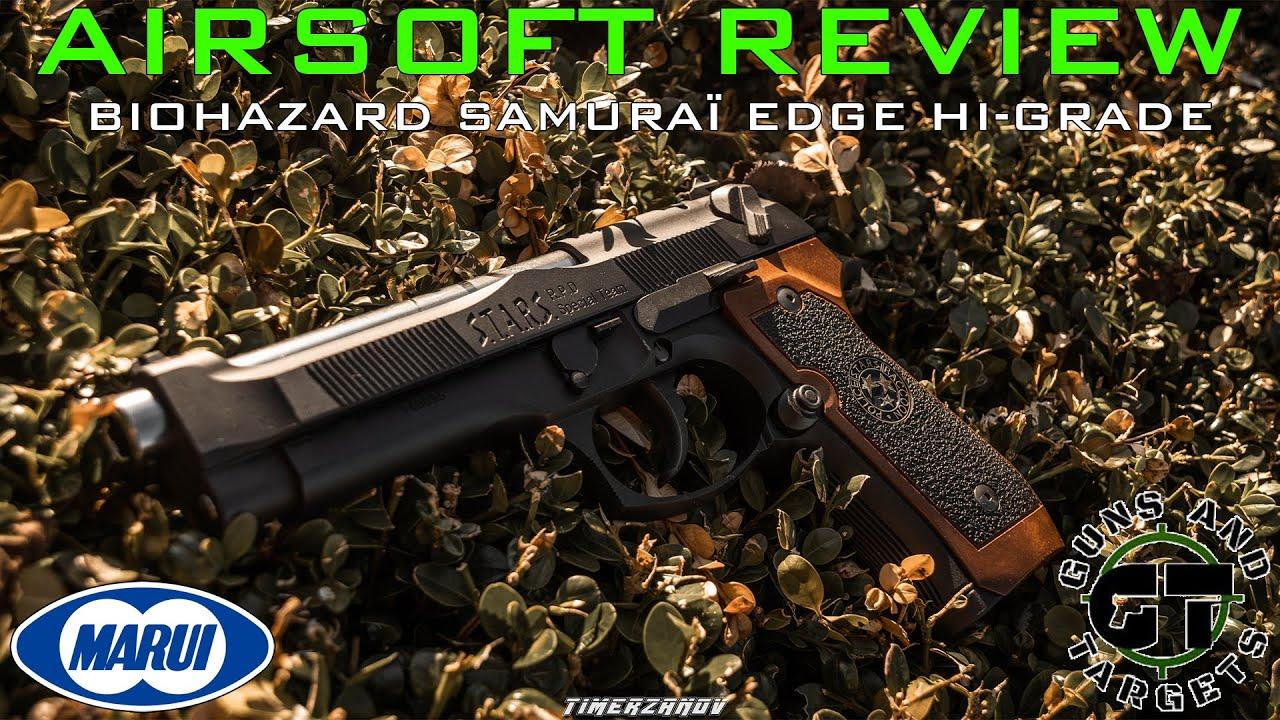 Airsoft Review #97 M92F Biohazard Samuraï Edge Hi Grade Tokyo Marui GBB (GUNS AND TARGETS)