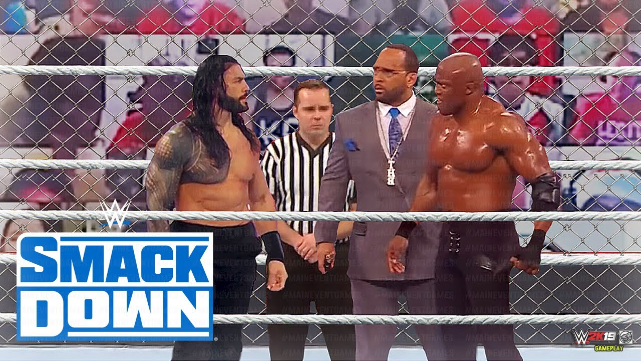 WWE 7 April 2021, Roman Reigns vs. Bobby Lashley - WWE Steel Cage Match
