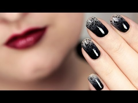 noble ombre nails with special effect nageldesign collchen14 youtube. Black Bedroom Furniture Sets. Home Design Ideas
