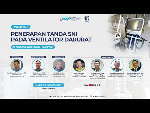 https://youtu.be/SYELFhSHRsAPenerapan Tanda SNI pada Ventilator Darurat