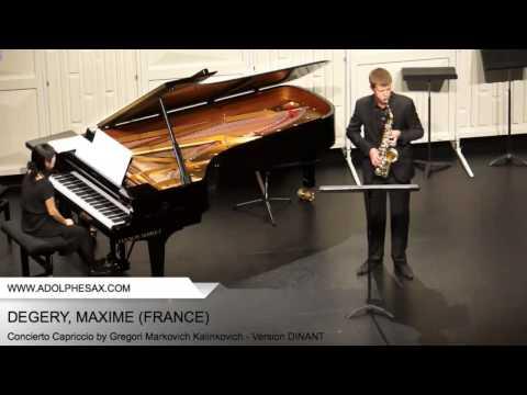 Dinant 2014 - DEGERY, MAXIME - Concerto Capriccio by Gregori Markovich Kalinkovich