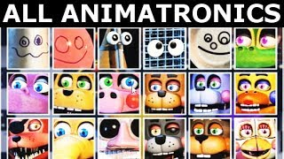 FNAF 6 Extras - All Animatronics Showcase On Stage (Freddy Fazbear's Pizzeria Simulator)