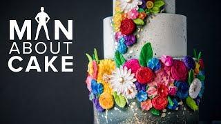 Colorful Bas Relief Wedding Cake   Man About Cake 2018 Wedding Season with Joshua John Russell