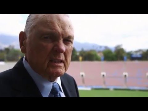 Keith Jackson Broadcast Center Tribute at the Rose Bowl Stadium