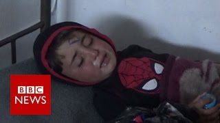 Children caught in Syria 'chemical attack'- BBC News