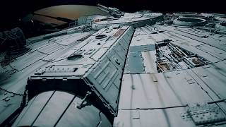 Not CGI. Inside Real UFO Alien Extraterrestrial Spaceship With Robots -Star Wars Episode 9 Movie Set