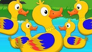 ห้าเป็ดน้อย song | เพลงเด็ก 3 มิติ | การ์ตูนสำหรับเด็ก | Five little Ducks | Kids Tv Thailand