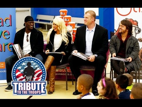 WWE Superstars And Divas Participate In A Reading Celebration At Joint Base Lewis-McChord - Smashpipe Sports
