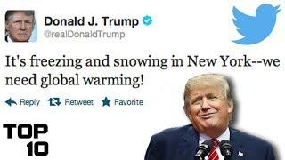 Top 10 Dumbest Tweets – Donald Trump Edition