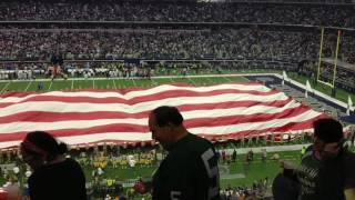 Dallas Cowboys v Green Bay Packers National Anthem AT&T Stadium