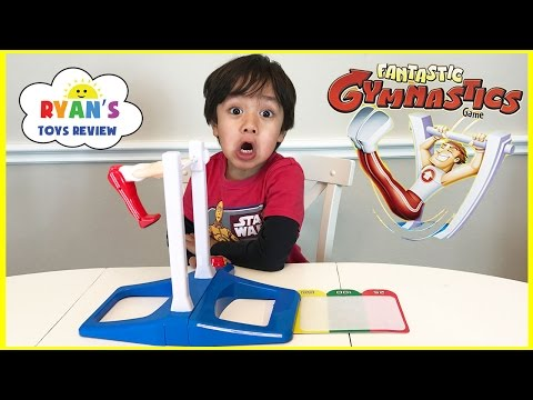Fantastic Gymnastic Challenge! Family Fun Games for Kids! Egg Surprise Toys Extreme Warhead Candy