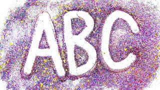 learn alphabet and colors with glitter sand | Sandy letters picture | art education for kids