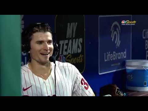 Luke Williams starts crying after home run
