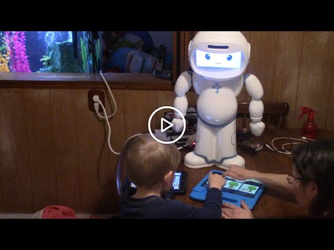 This family using QTrobot for over a year credits the robot with teaching their son social skills he could not acquire before