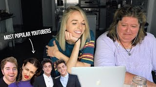 MY MOM REACTS TO POPULAR YOUTUBERS