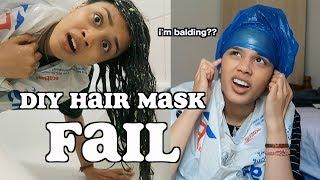 my worst nightmare..i'm balding?! (diy hair mask fail) | clickfortaz