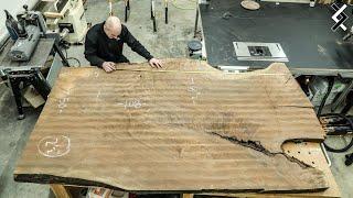 $15,000 Wood Slab Kitchen Island - One Man Woodworking Shop