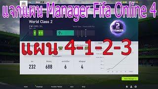 แจกแผน FIFA Online 4 [Manager] 4-1-2-3 การตั้งค่า+แผน+แทคติก