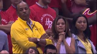 Stephen Curry's scary fall head injury vs Rockets (Game 4)