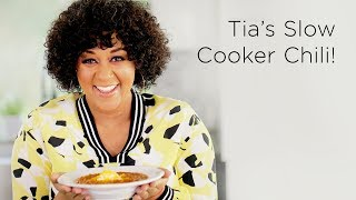 Tia Mowry's Slow Cooker Chili Recipe | Quick Fix