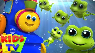 Bob The Train | Five Little Speckled Frogs | Nursery Rhymes | Kids Songs | 3D Rhymes | Kids Tv