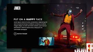 Complete Responsive Movie Landing Page Website Design | Html CSS & Javascript
