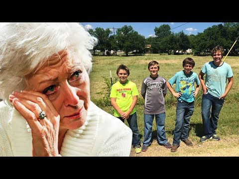 Elderly Woman Catches 4 Boys Sneaking Into Yard - Weeps When She Realizes What They're Doing.