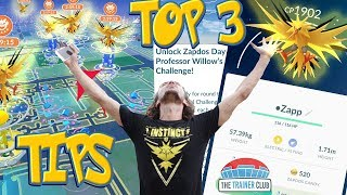 TOP 3 TIPS for SHINY ZAPDOS RAIDS! CATCH THE MOST SHINIES, CANDY & MOST XP - Pokemon Go