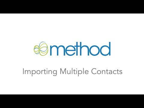 [Method CRM] Importing Multiple Contacts