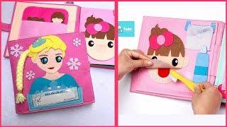 Quietbook Dollhouse, Sách vải bé giúp mẹ làm việc nhà công chúa Elsa, Đồ chơi trẻ em (Chim Xinh)