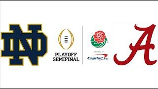 2021 Rose Bowl, #4 Notre Dame vs #1 Alabama (Highlights)
