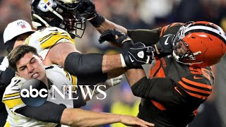 New details on the brawl between NFL players Myles Garrett and Mason Rudolph | ABC News