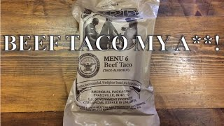 MRE Beef Taco Menu #6 ~2014~