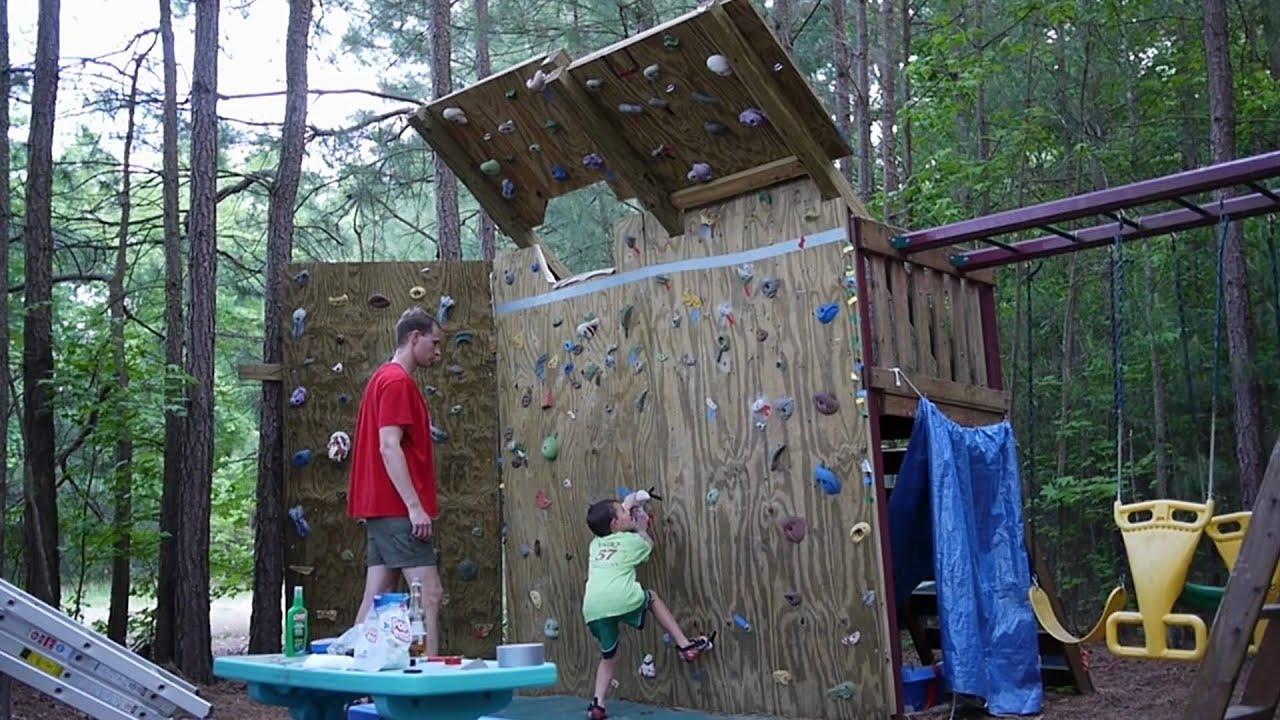 Backyard Climbing Wall - YouTube