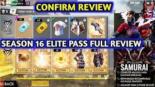 Season 16 elite pass confirm review    Free Fire season 16 elite pass full details